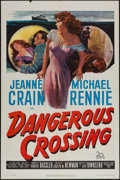 "Movie Posters:Mystery, Dangerous Crossing (20th Century Fox, 1953). One Sheet (27"" X 41"")& Lobby Card Set of 8 (11"" X 14""). Mystery.. ... (Total: 9Items)"