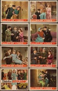 """Movie Posters:Mystery, Detective Kitty O'Day (Monogram, 1944). Lobby Card Set of 8 (11"""" X14""""). Mystery.. ... (Total: 8 Items)"""