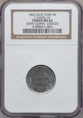 Civil War Merchants, 1863 John Quinn, Grocer, New York NY MS62 NGC. Fuld-NY630BG-2e,R.8....