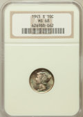 Mercury Dimes: , 1945-S 10C MS68 NGC. NGC Census: (359/3). PCGS Population (1/0).Mintage: 41,920,000. Numismedia Wsl. Price for problem fre...