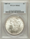 Morgan Dollars: , 1887-O $1 MS62 PCGS. PCGS Population (1843/6479). NGC Census:(1406/6116). Mintage: 11,550,000. Numismedia Wsl. Price for p...