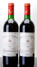 Red Bordeaux, Chateau l'Arrosee 1990 . St. Emilion. 2ts, 2lscl. Bottle(2). ... (Total: 2 Btls. )