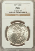 Morgan Dollars: , 1890-S $1 MS63 NGC. NGC Census: (2683/2544). PCGS Population(3465/3705). Mintage: 8,230,373. Numismedia Wsl. Price for pro...
