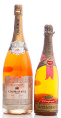 "Champagne, A. Charbaut & Fils Champagne . NV Rose bsl, ltal,beautifully etched ""Happy very special birthday Gene - 1985""Magnu... (Total: 1 Btl. & 1 Mag. )"