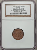 Civil War Merchants, 1863 A. Gavron, Sausages, New York NY MS63 Red and Brown NGC.Fuld-NY630AB-2a, R.9....