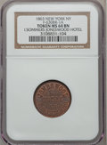 Civil War Merchants, 1863 I. Sommers Joneswood Hotel, New York NY MS64 Brown NGC.Fuld-NY630BR-1a, R.2....