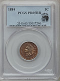 Proof Indian Cents: , 1884 1C PR65 Red and Brown PCGS. Ex: Eagle Eye Photo Seal. PCGS Population (110/63). NGC Census: (92/66). Mintage: 3,942. N...