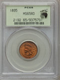 Indian Cents: , 1895 1C MS65 Red PCGS. Ex: Eagle Eye Photo Seal. PCGS Population(120/40). NGC Census: (92/41). Mintage: 38,343,636. Numism...