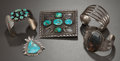 American Indian Art:Jewelry and Silverwork, FIVE SOUTHWEST SILVER JEWELRY ITEMS. c. 1930 - 1950 ... (Total: 5Items)