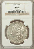 Morgan Dollars: , 1884-S $1 XF45 NGC. NGC Census: (842/5222). PCGS Population(1050/4519). Mintage: 3,200,000. Numismedia Wsl. Price for prob...
