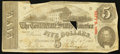 Confederate Notes:1863 Issues, T60 $5 1863 PF-3 Cr. UNL.. ...