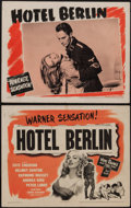 "Movie Posters:War, Hotel Berlin (Warner Brothers, 1945). Title Lobby Card & LobbyCard (11"" X 14""). War.. ... (Total: 2 Items)"