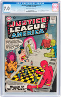 Silver Age (1956-1969):Superhero, Justice League of America #1 (DC, 1960) CGC FN/VF 7.0 Cream tooff-white pages....