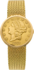 Timepieces:Wristwatch, Universal Geneve $20 Gold Coin Wristwatch. ...