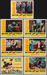 "How to Be Very, Very Popular (20th Century Fox, 1955). Title Lobby Card and Lobby Cards (6) (11"" X 14""). Comed..."
