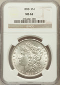 Morgan Dollars: , 1898 $1 MS62 NGC. NGC Census: (1071/16248). PCGS Population(1411/13629). Mintage: 5,884,735. Numismedia Wsl. Price for pro...