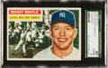 Baseball Cards:Singles (1950-1959), 1956 Topps Mickey Mantle #135 SGC 80 EX/NM 6....