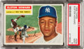 Baseball Cards:Singles (1950-1959), 1956 Topps Elston Howard #208 PSA Mint 9....
