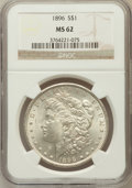 Morgan Dollars: , 1896 $1 MS62 NGC. NGC Census: (3045/32890). PCGS Population(3592/29126). Mintage: 9,976,762. Numismedia Wsl. Price for pro...