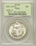 Commemorative Silver: , 1935-S 50C San Diego MS65 PCGS. PCGS Population (5705/1725). NGCCensus: (2582/737). Mintage: 70,132. Numismedia Wsl. Price...