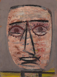 ARSHILE GORKY (American, 1904-1948) Untitled (Head), c. 1937 Oil on cardboard 16 x 12 inches (40