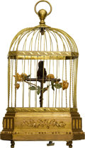 Timepieces:Musical - Mechanical , Mechanical Three Motion Singing Bird In Cage, circa 1850. ...