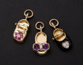 Estate Jewelry:Other , Three Charming Shoe Gold Charms. ... (Total: 3 Items)