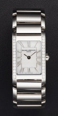 Timepieces:Wristwatch, Baume & Mercier Diamond & Steel Wristwatch. ...