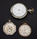 Timepieces:Pocket (post 1900), Three Waltham Pocket Watches Runners. ... (Total: 3 Items)