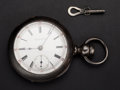 Timepieces:Pocket (pre 1900) , Rockford Private Label 18 Size Coin Silver Pocket Watch Hidden KeyCase. ...