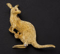 Estate Jewelry:Brooches - Pins, Kangaroo & Baby 18k Gold Brooch. ...