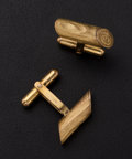 Estate Jewelry:Cufflinks, Estate Gold Cufflinks. ...