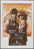 "Movie Posters:Academy Award Winners, Casablanca (Warner Brothers, 1990s). Commercial Spanish Poster(27.5"" X 39.5""). Academy Award Winners.. ..."