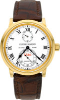 Timepieces:Wristwatch, Ulysse Nardin 150th Anniversary Limited Edition Gold Chronometer,No. 014/250, circa 1996. ...