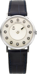Timepieces:Wristwatch, LeCoultre White Gold Diamond Mystery Watch. ...