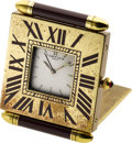 Timepieces:Clocks, Cartier Small Travel Alarm Clock. ...