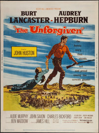 """The Unforgiven (United Artists, 1960). Poster (30"""" X 40""""). Western"""