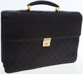 Luxury Accessories:Bags, Chanel Black Quilted Lambskin Leather Briefcase Bag with GoldHardware. ...
