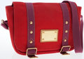Luxury Accessories:Bags, Louis Vuitton Red Canvas Antigua Besace PM Shoulder Bag. ...