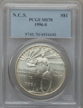 Modern Issues: , 1996-S $1 Community Service Silver Dollar MS70 PCGS. PCGSPopulation (114). NGC Census: (224). Mintage: 23,500. Numismedia...