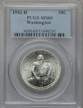 Modern Issues: , 1982-D S50C Washington Silver Half Dollar MS69 PCGS. PCGSPopulation (587/0). NGC Census: (72/...
