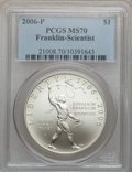 Modern Issues, 2006-P $1 Scientist MS70 PCGS. PCGS Population (439). NGC Census:(5367). Numismedia Wsl. Price for problem free NGC/PCGS ...