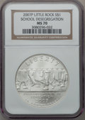 Modern Issues, 2007-P $1 Little Rock MS70 NGC. NGC Census: (1742). PCGS Population(470). Numismedia Wsl. Price for problem free NGC/PCGS...