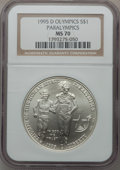 Modern Issues: , 1995-D $1 Olympic/Paralympics Silver Dollar MS70 NGC. NGC Census:(318). PCGS Population (240). Numismedia Wsl. Price for ...