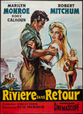 "Movie Posters:Adventure, River of No Return (20th Century Fox, R-1960s). French Grande (46""X 63""). Adventure.. ..."