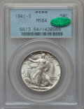 Walking Liberty Half Dollars: , 1941-S 50C MS64 PCGS. CAC. PCGS Population (3455/2679). NGC Census:(2654/1135). Mintage: 8,098,000. Numismedia Wsl. Price ...