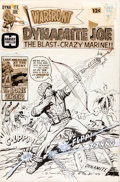 Original Comic Art:Covers, Jack Sparling Warfront #37 Dynamite Joe Cover Original Art(Harvey, 1966)....
