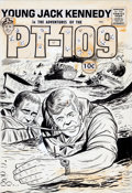 Original Comic Art:Covers, Joe Simon Studio Young Jack Kennedy in the Adventures of thePT-109 Cover Original Art (undated)....