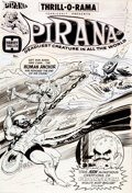 Original Comic Art:Covers, Jack Sparling Thrill-O-Rama #3 Pirana Cover Original Art(Harvey, 1966)....