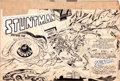Original Comic Art:Panel Pages, Jack Kirby and Joe Simon Stuntman­ #1 Double-Page SplashOriginal Art (Harvey, 1946)....